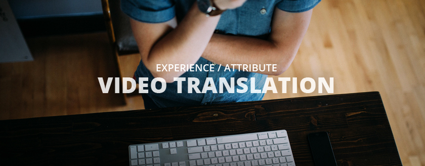 experience/attrivute Video Translation